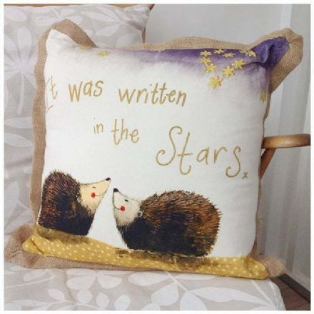 Written in the Stars Cushion By Alex Clark